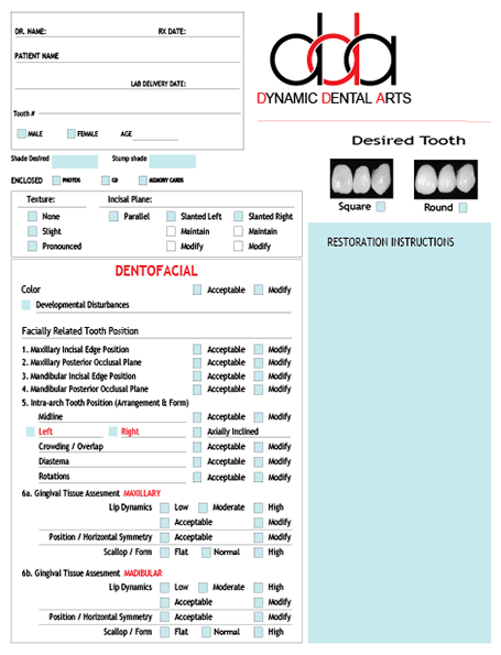 A graphic of the cosmetic lab slip pdf